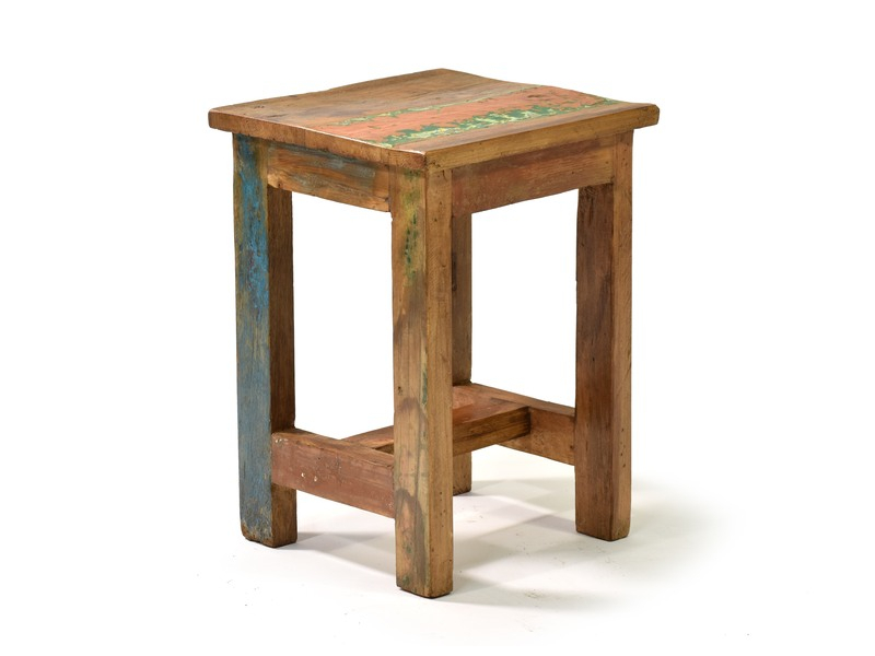 """Malá stolička, """"Goa"""" design, starý teak, 24x24x34cm"""