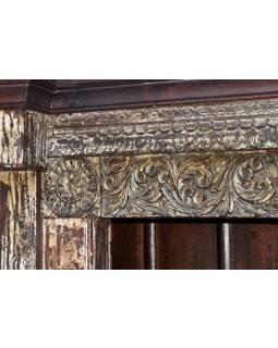 Knihovna z palisandrového dřeva, starý portál, 141x34x197cm
