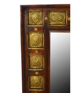Zrcadlo v rámu zdobené kováním, palisandr, 60x90x4cm