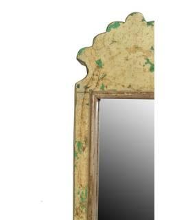 Malé zrcadlo v rámu z recyklovaného teakového dřeva, 15x43x3cm