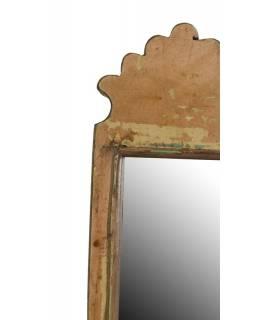 Malé zrcadlo v rámu z recyklovaného teakového dřeva, 16x45x3cm