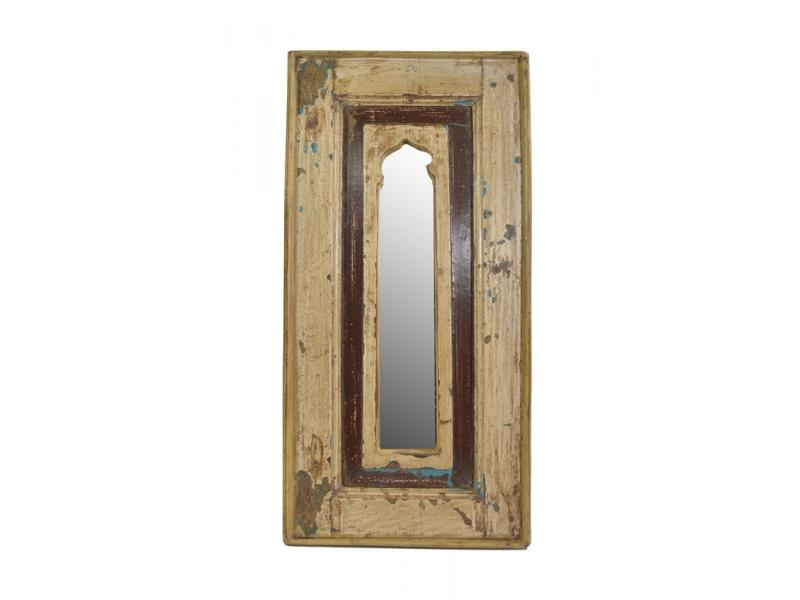 Zrcadlo v rámu z recyklovaného teakového dřeva, 30x60x3cm