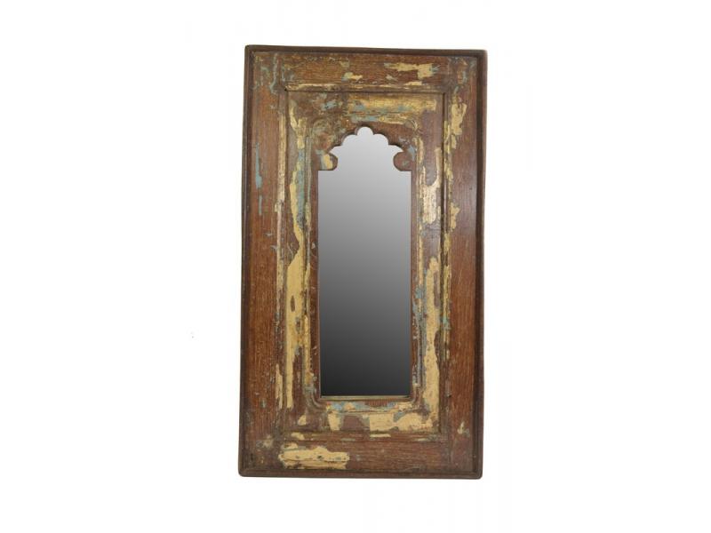 Zrcadlo v rámu z recyklovaného teakového dřeva, 36x63x3cm