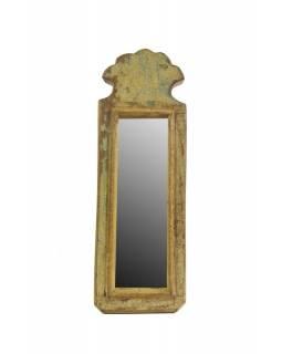 Malé zrcadlo v rámu z recyklovaného teakového dřeva, 11x32x3cm