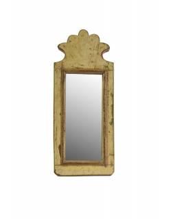 Malé zrcadlo v rámu z recyklovaného teakového dřeva, 13x31x3cm