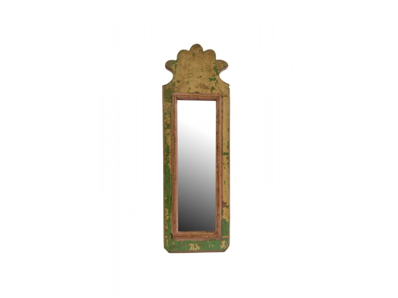 Malé zrcadlo v rámu z recyklovaného teakového dřeva, 12x36x3cm