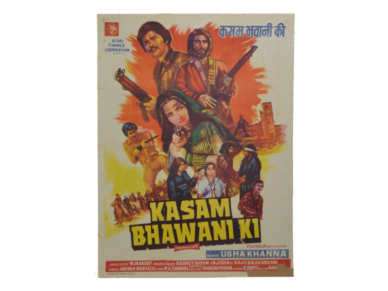Antik filmový plakát Bollywood, cca 100x75cm