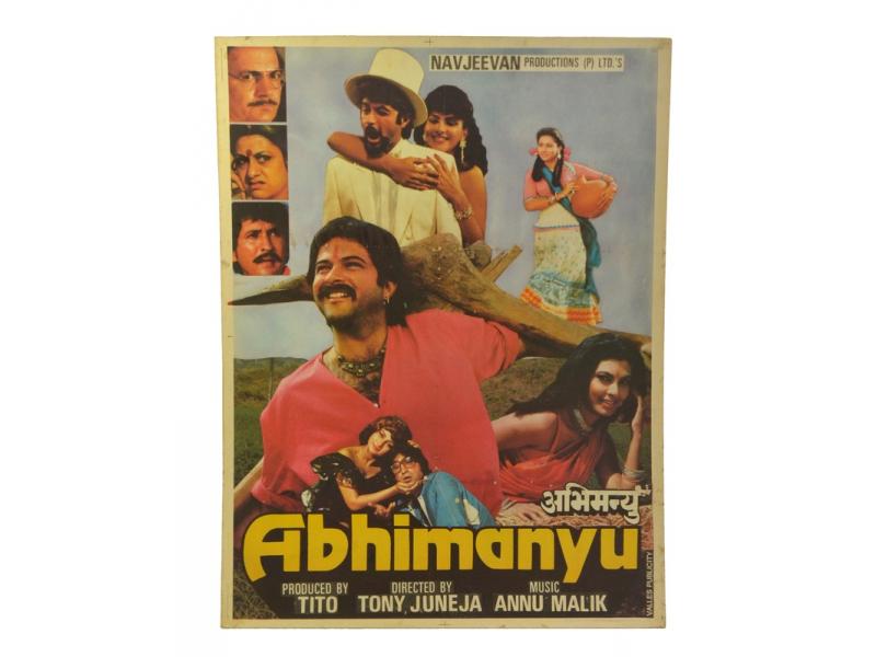 Filmový plakát Bollywood, Antik cca 98x75cm