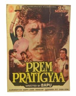 Plakát antik filmový Bollywood, cca 98x75cm