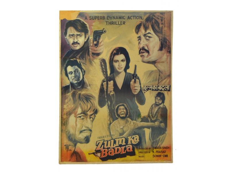 Antik filmový plakát, cca 98x75cm