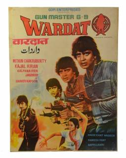 Antik filmový plakát Bollywood, 98x75cm