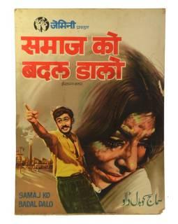 Antik plakát Bollywood, cca 98x75cm