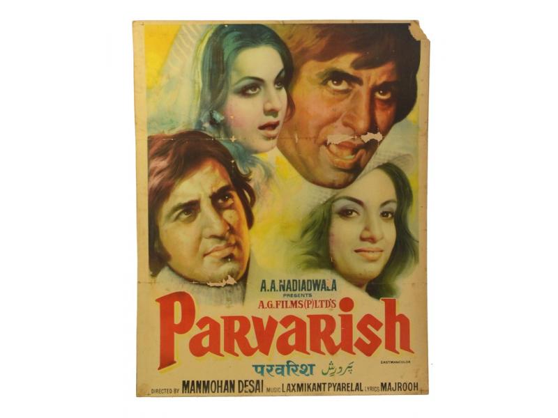 Plakát 98x75cm, Antik filmový Bollywood,