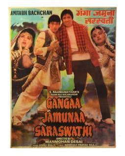 Bollywood, filmový antik plakát, cca 98x75cm
