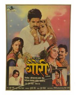 Indie, antik filmový plakát Bollywood, cca 98x75cm