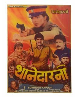 Indie, antik filmový plakát Bollywood, 98x75cm