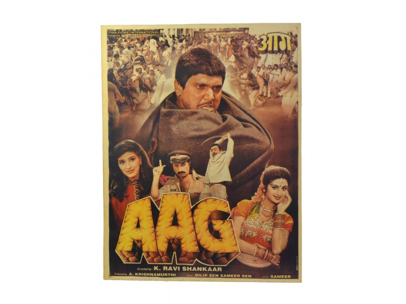 Antik indický filmový plakát Bollywood, 92x70cm