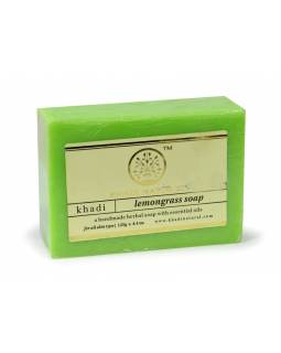 Ručně vyráběné mýdlo s esenciálními oleji, Lemongrass, 125g