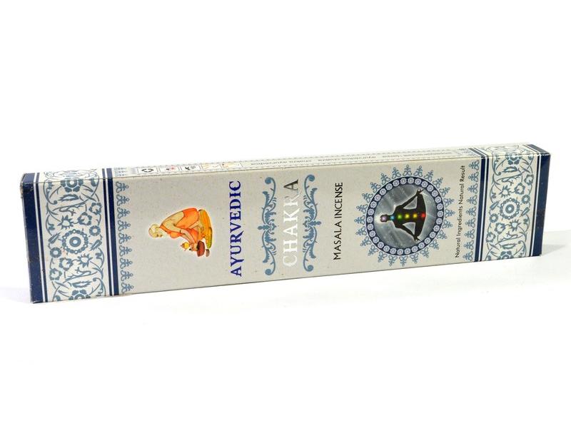 Vonné tyčinky, Ayurvedic, Chakra, 23 cm, 15ks