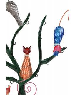 Kočky sedící na stromě, ručně malované, 42cm