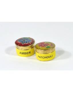 Přírodní tuhý parfém, Patchouli a Amber, 2x4g v ozd.pytlíčku