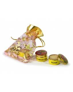Přírodní tuhý parfém, Rose a Kamasutra, 2x4g v pytlíku
