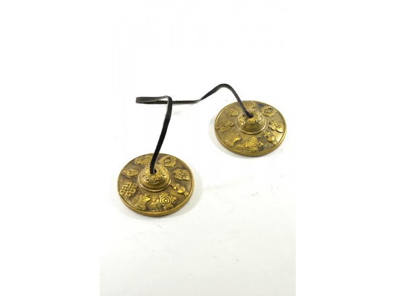 """Činelky """"Mujura"""" (Ting-ša), Astamangal, průměr cca 6,5cm"""
