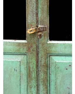 Prosklená skříň z antik teakového dřeva, 101x44x168cm