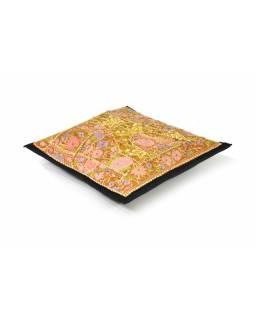 Povlak na polštář z Rajastanu, patchwork, ruční práce, 40x40cm