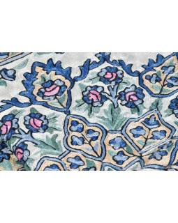 Ručně vyšívaný koberec/tapiserie, výšivka z hedvábí, 150x90cm