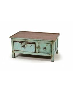 Odkládací stolek se šuplíky z teakového dřeva, 67x40x33cm