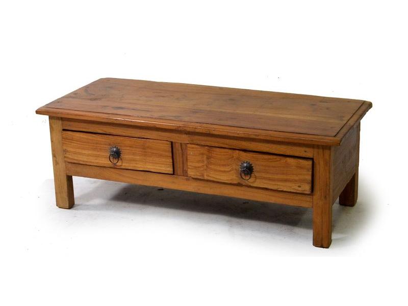 Odkládací stolek s šuplíky z teakového dřeva, 92x39x33cm