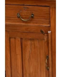Stůl z teakového dřeva, antik, 125x43x77