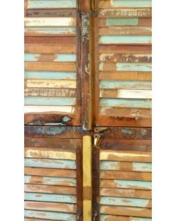 "Skříň v ""Goa"" stylu, 2x lamelové dveře, 92x46x214cm"