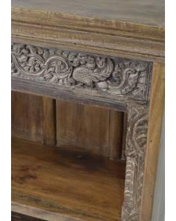 Knihovna z antik teakového dřeva, 77x36x94cm