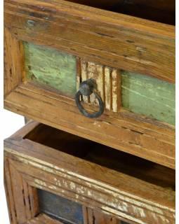 "Šuplíková komoda ze starého teakového dřeva v ""Goa"" stylu, 86x40x80cm"