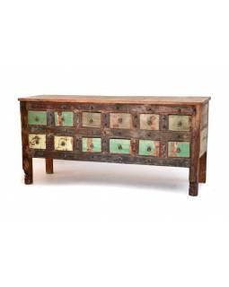 """Šuplíková """"Goa"""" komoda z antik teakového dřeva, 184x47x82cm"""