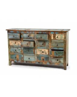 """Šuplíková """"Goa"""" komoda z antik teakového dřeva, 153x40x92cm"""