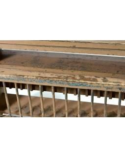 Kuchyňská polička z antik teakového dřeva, 50x14x48cm