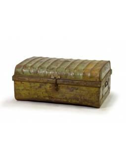 Plechový kufr, zelený, 67x45x29cm