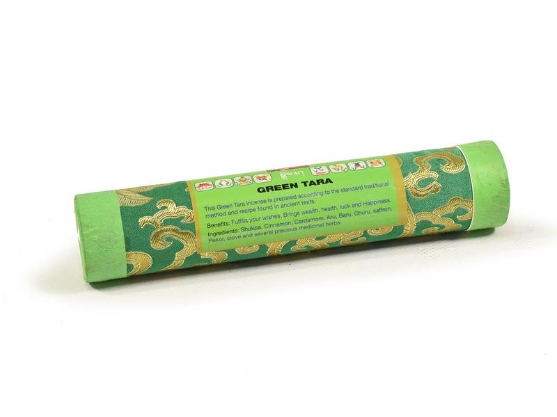 "Bhútánské vonné tyčinky ""Green Tara"", 20x4cm"