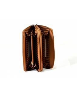 """Velká kožená peněženka """"All owls, vínová, 20x11cm"""
