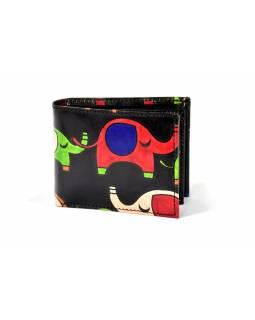 """Kožená peněženka """"elephant nama"""", černá, 10,5x8,5cm"""