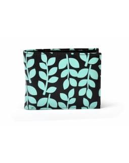 """Kožená peněženka """"Stem leaves, černá, 10,5x8,5cm"""