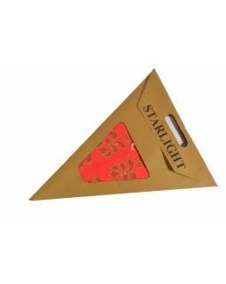 """Červený papírový lampion hvězda """"Star Star"""", zlacená, 5 cípů, 60cm"""