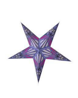 """Fialovo-růžový papírový lampion hvězda """"Psychedelic"""", 5 cípů, 60cm"""