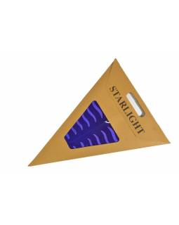 """Tmavě fialový papírový lampion hvězda """"Stripes"""", prostřihy, 5 cípů, 60cm"""
