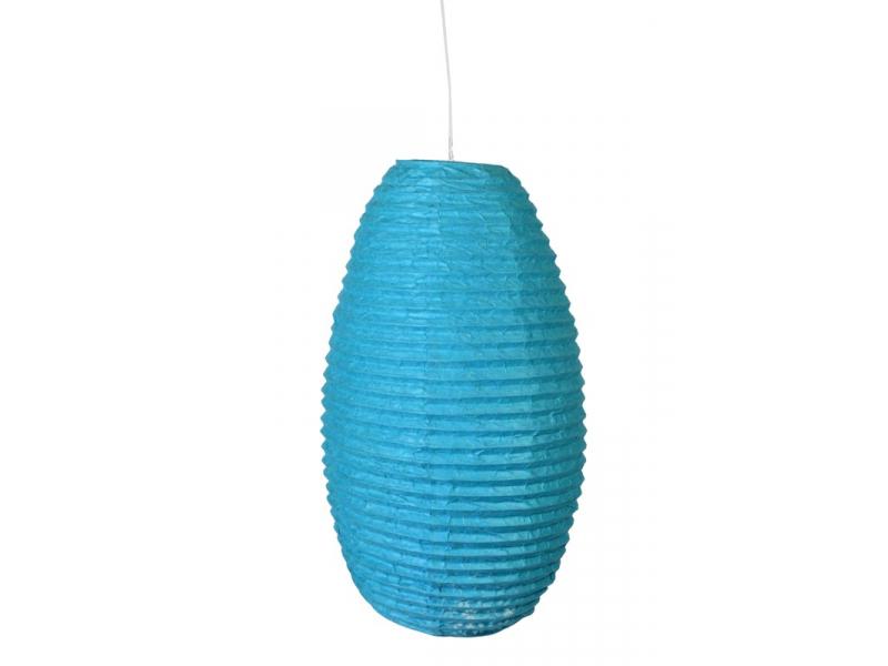 Tyrkysový papírový lampion vosí hnízdo, ruční papír, 29x50cm
