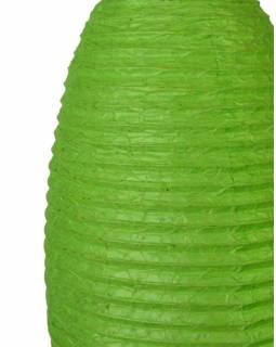 Zelený papírový lampion vosí hnízdo, ruční papír, 29x50cm