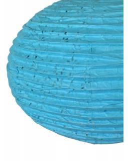 Tyrkysový papírový lampion vosí hnízdo, ruční papír, 33x30cm